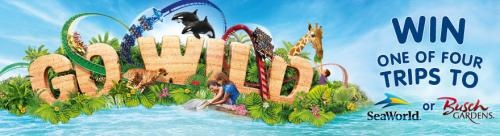 Win 1 of 4 trips to SeaWorld or Busch Gardens! Go Wild Sweepstakes from Regal Entertainment Group, SeaWorld and Coca-Cola.