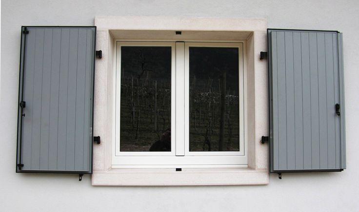 Finestra legno e alluminio esterno scuri in alluminio