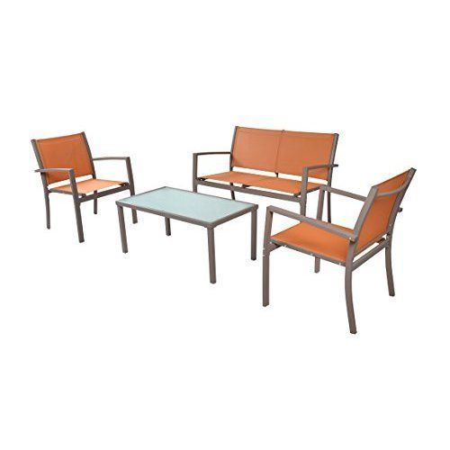 Outdoor Patio Furniture Set Garden Yard Home 4 Piece Bistro Coffee Table Chair #Unbranded