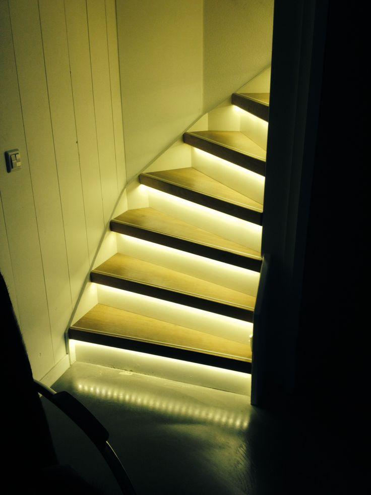 Led-verlichting trap