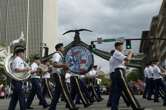 Members of the Utah National Guard marching band participate in the 163rd annual Days of '47 KSL 5 Parade on July 24, 2012. (Chris Detrick  |  The Salt Lake Tribune)Marching Band