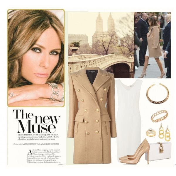 A fashion look from November 2016 featuring Balmain coats, Gianvito Rossi pumps and Dolce&Gabbana clutches. Browse and shop related looks.
