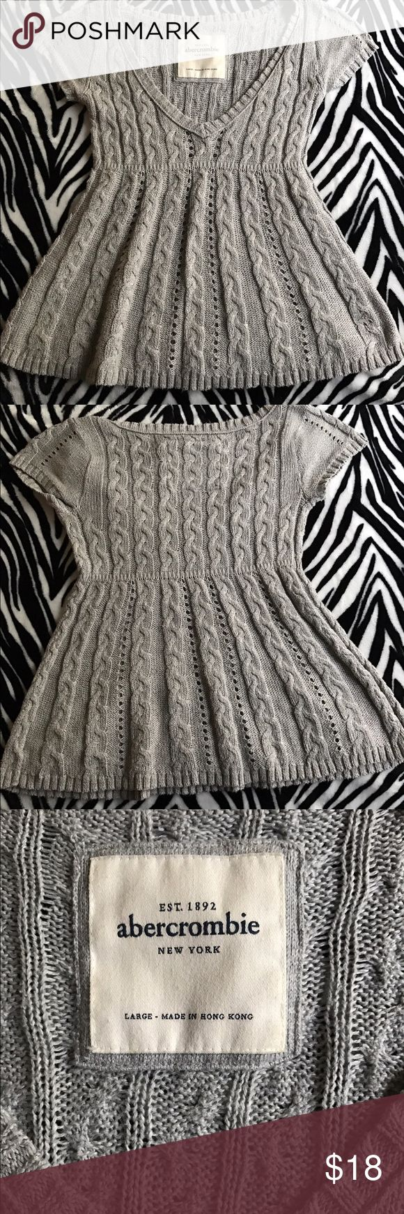 Gray Abercrombie Sweater for Kids This is just adorable and reminds me of doll clothes! Couple this with some leggings and you have one stylish kid! It's in perfect condition! abercrombie kids Shirts & Tops Sweaters