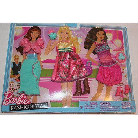 Barbie Fashionistas Day Look Clothing ~ Bright Beach Outfits /& Accessories NEW