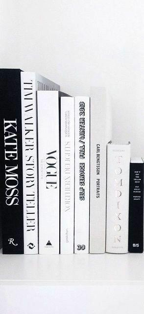 grafika black, books, and white