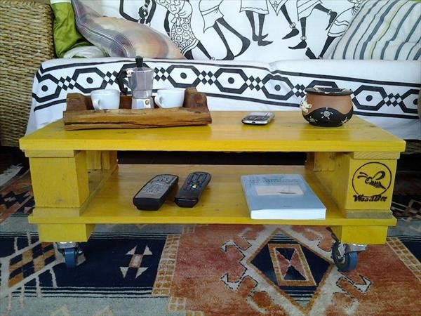 Recycled Pallet Yellow Coffee Table - 25+ Best Ideas About Yellow Coffee Tables On Pinterest Used