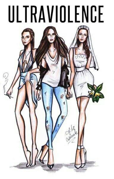 Lana Del Rey + looks from Ultraviolence music videos #LDR #art by Filip Kozac