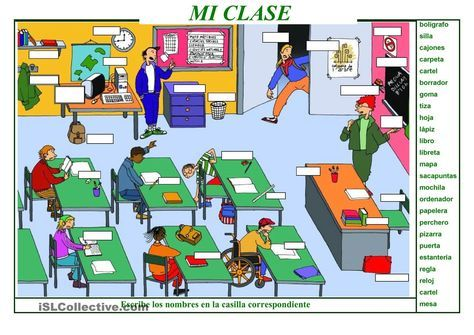 MI CLASE   Gratuito ELE  worksheets