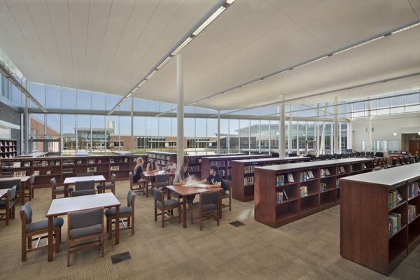 Blue Valley Southwest High School Library, Designed by Perkins+Will