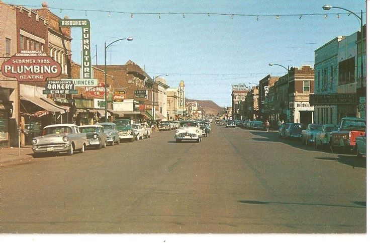 Looking East on Howard Street in Hibbing Minnesota Iron Ore Capital on the Mesabi Iron Range ca Late 1950's Postcard
