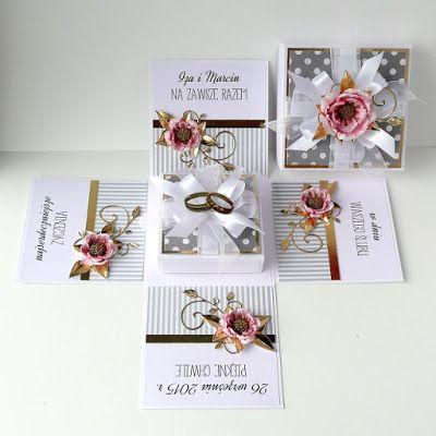 kartkulec, Wedding exploding box, open