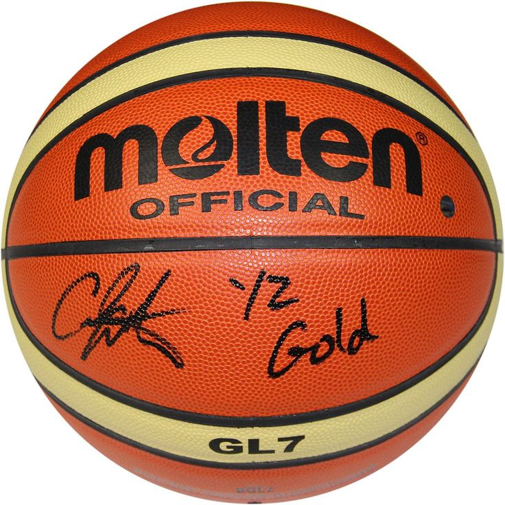 Carmelo Anthony Signed Molten FIBA Official Olympic Basketball w/ '2012 Gold' Insc.