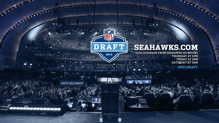 Watch live coverage of the 2013 Seahawks #NFLDraft (http://shwks.com/live) from our war room starting:  Thursday at 5 pm PT Friday at 3 pm PT Saturday at 9 am PT