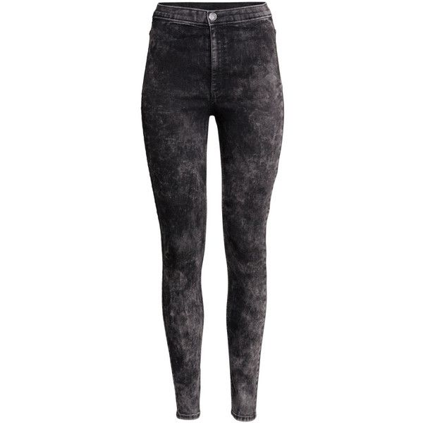 H&M Trousers High waist ($20) ❤ liked on Polyvore featuring pants, nearly black, high waisted black pants, highwaisted pants, h&m trousers, h&m and h&m pants