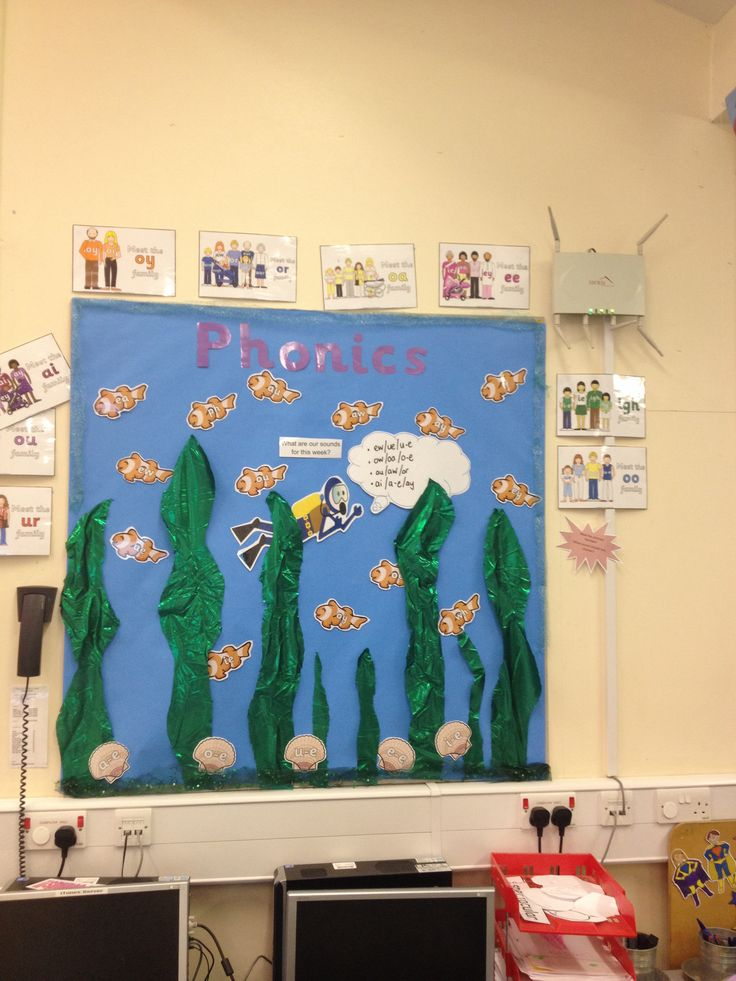Classroom Ideas Display ~ Phonics under the sea display phase classroom