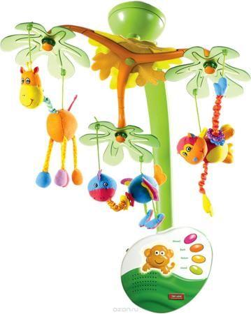 Tiny Love Мобиль музыкальный с ночником Остров сладких грез  — 5399р.  Фантазийный мобиль с ночником, тремя подвижными плафонами, выполненными в замысловатой форме из морозного пластика, к каждому из которых прикреплена симпатичная мягкая игрушка, которая движется в 3 плоскостях. Музыкальный репертуар состоит из 2 классических мелодий и 2 треков со звуками природы общей продолжительностью 20 минут. Мобиль снабжен регулятором громкости (в том числе доступен беззвучный режим), также на…