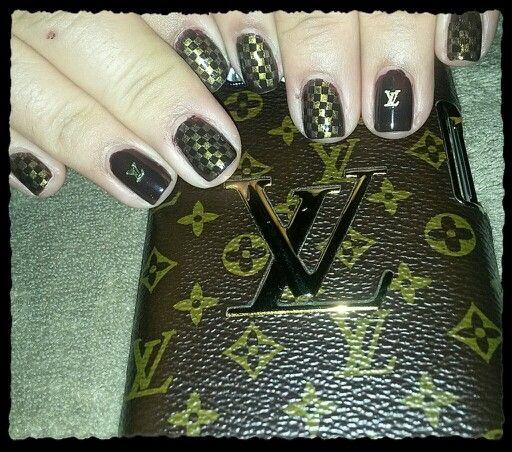 Louis Vuitton Nail Art Nail Designs Pinterest Nail Art Louis Vuitton And Handbags