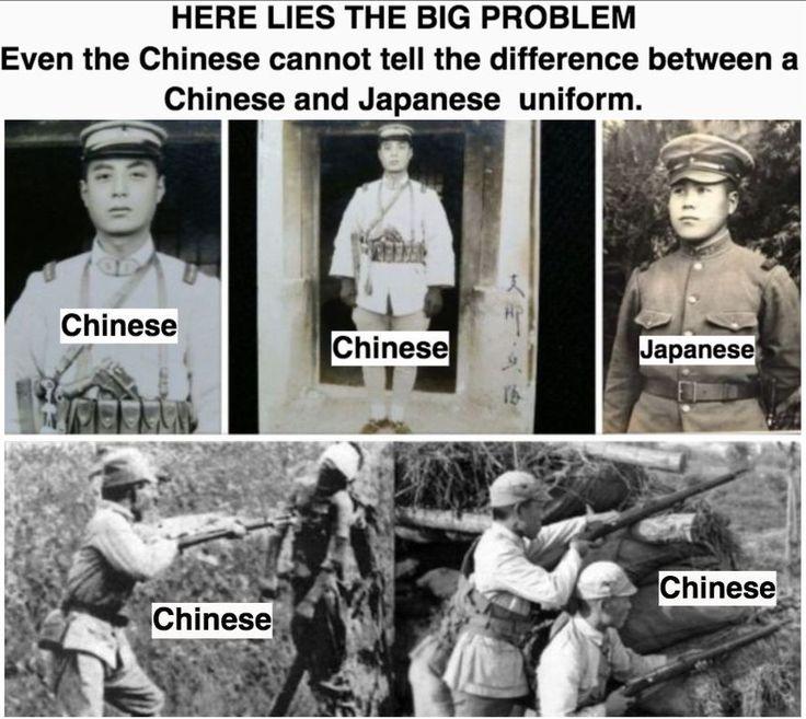 軍服 日本兵と中国兵の違い 歴史 日本兵 南京大虐殺