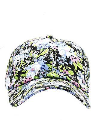 Blue Floral Snapback Cap