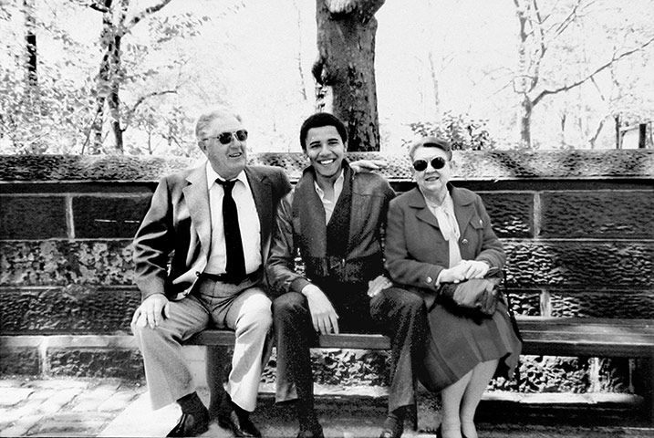 Early Obama: Early Obama: Barack Obama Poses With His Grandparents