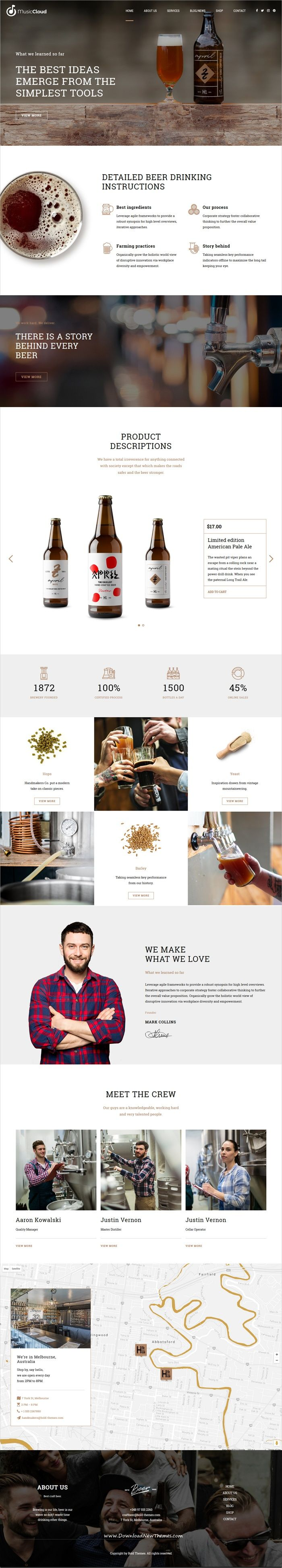 Craft Beer is clean and modern design 6in1 responsive #WordPress theme for #brewery, #beer house, pub or #liquor shop eCommerce website download now..