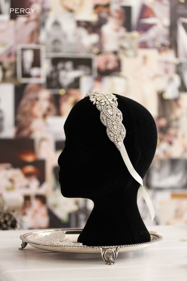 Straight from the Percy Handmade studio: a bridal headband with countless rhinestones - it's all about the sparkles!