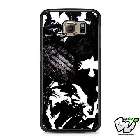 Black White Crows Painting Samsung Galaxy S6 Case