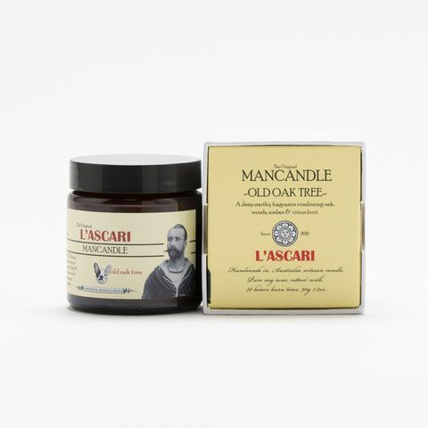 Old Oak Tree. Shop now at The Candle Library. L'Ascari candles are handmade in Australia using 100% soy wax.
