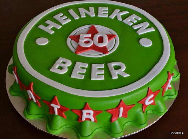 Heineken beer cake for a 50th birthday
