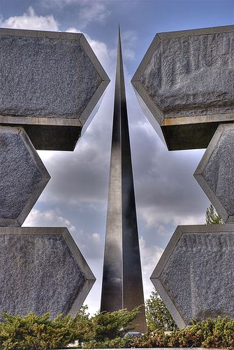 The Partisans Memorial at Yad Vashem, the Holocaust museum in Jerusalem, Israel (mephistofales, photographer)