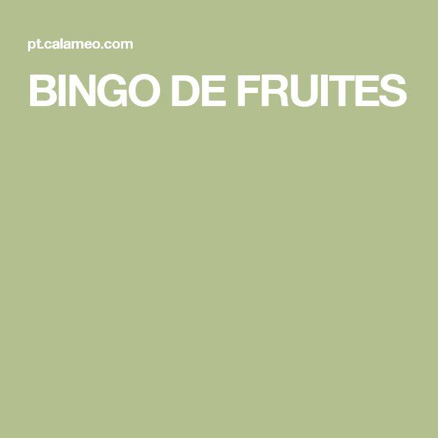 BINGO DE FRUITES