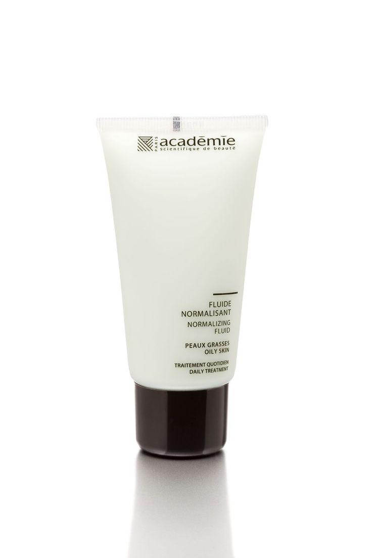 Le Fluide Normalisant Académie Visage d'Académie Scientifique de Beauté contribue à normaliser la sécrétion de sébum des peaux grasses. Hydratant et matifiant, il laisse la peau fraîche et le teint éclatant et constitue une base de maquillage légère.