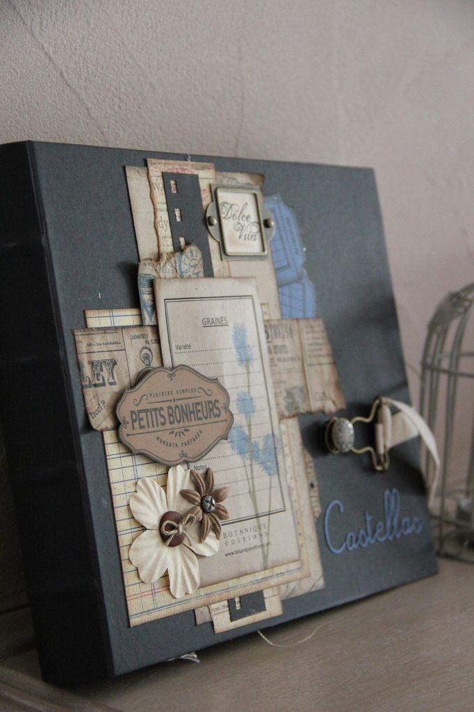 Un album tr�s vintage... merci Cathyscrap pour ce beau projet ! Attention.. il y a BEAUCOUP de photos ! Pr�t(e)
