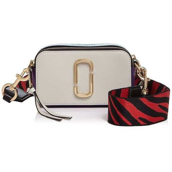 Marc Jacobs Snapshot Zebra Strap Color Block Leather Camera Bag (4.830 ARS) ❤ liked on Polyvore featuring accessories, tech accessories, camera bag and marc jacobs