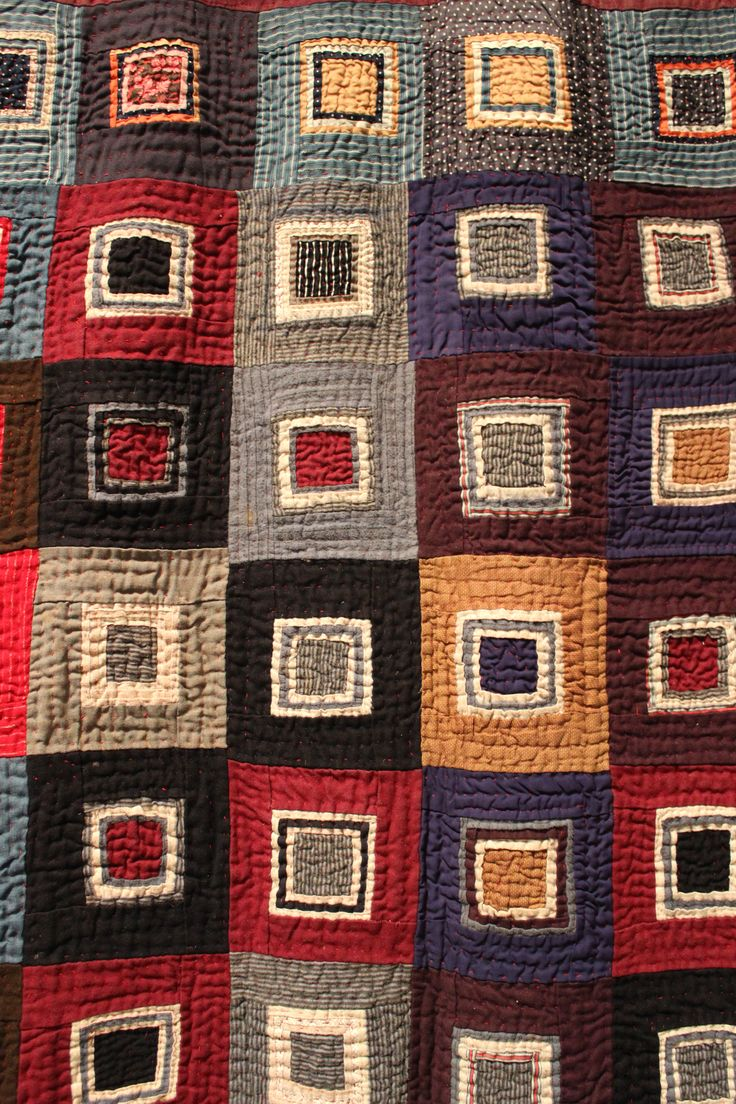 Piercing ideas for quilt backing   best Quilts  Log Cabins images on Pinterest  Quilt block