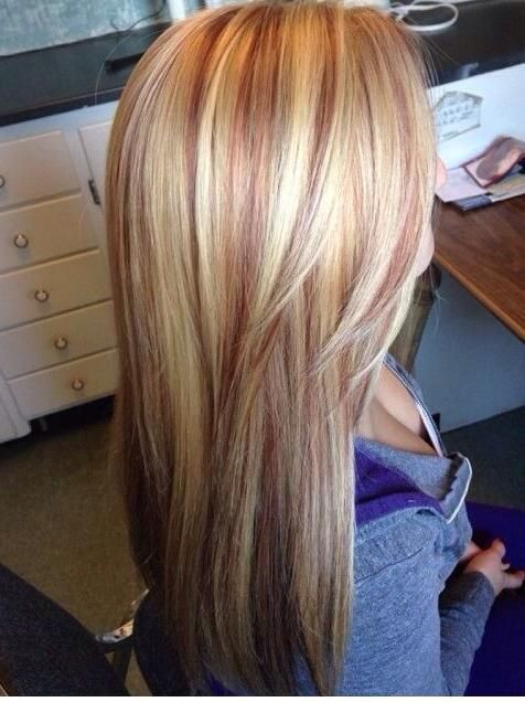 Best 25 blonde with red highlights ideas on pinterest blonde blonde hair with red lowlights pmusecretfo Gallery