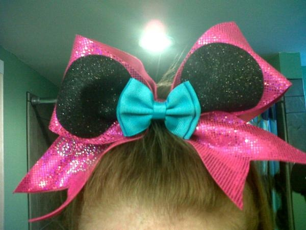 Mickey Mouse cheerleading bow