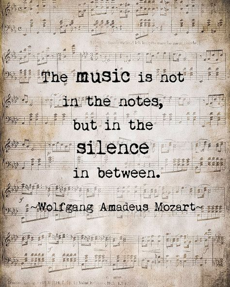Mozart Music Quote Musical Notes Vintage by ShadetreePhotography