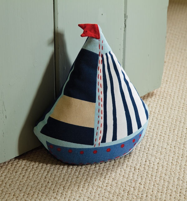 Open door ahoy! Keep your door ajar with this breezy cotton door stop  ~make one for my bathroom door
