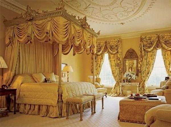 Bedroom:Victorian Bed Canopy Luxurious Curtain Style Victorian Ceiling  Design Victorian Decoration Idea Very Impressive