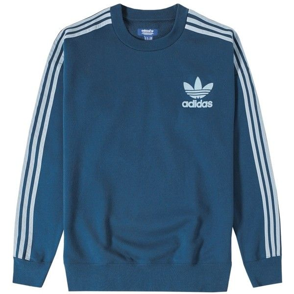 Adidas Adicolor Fashion Crew Sweat (47.215 CLP) ❤ liked on Polyvore featuring…