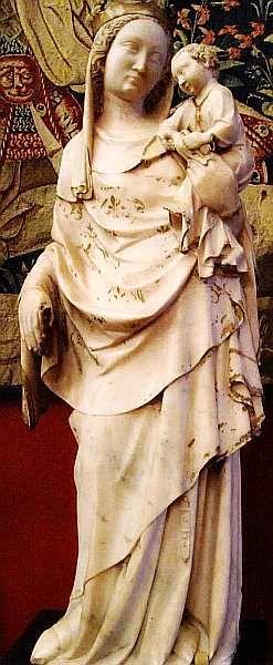 Мадонна с Младенцем. Скульптура аббатства Лоншан. Иль-де-Франс. Середина XIV века. Мрамор