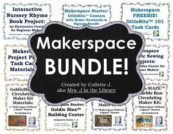 Help your students develop problem-solving & critical thinking skills while having fun & being creative! Start a makerspace! This HUGE bundle has everything you need to start a makerspace in your classroom, library, or STEM / STEAM lab.