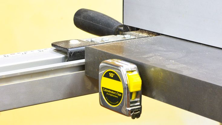 More My Tape Measure Holder is the MOST frequent accessory I use on my table saw is! ... with the magnet under the clip, I can get the tape measure off my top of my table saw and in a place where it is out of the way ... #woodworking