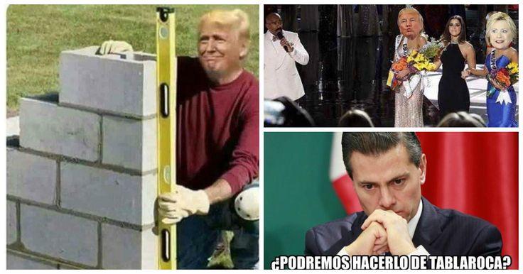 """Como era de esperarse y tal como sucedió durante toda la campaña electoral en Estados Unidos, los mexicanos nuevamente nos sacamos un """"diez"""" con los más divertidos y graciosos memes que invadieron todas las redes sociales este pasado martes 8 de noviembre, día de elecciones presidenciales en nuestro país vecino y que el ganador y el próximo presidente de Estados Unidos será Donald Trump, algo que nadie queríamos."""