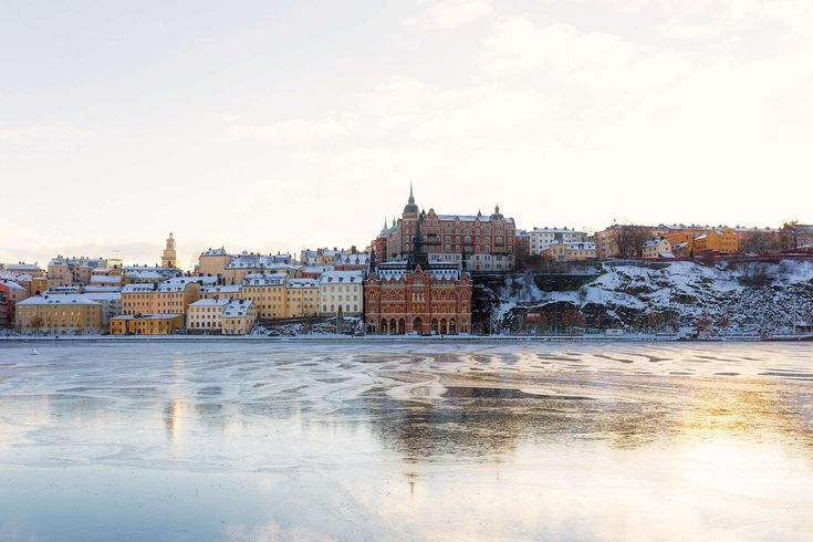 #architecture #building #city #cityscape #cold #frozen #hdr #landmark #old #river #snow #stockholm #sweden #tourism #urban #water #waterfront #winter