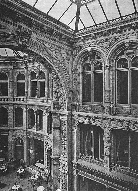 berlin mitte 1881 das innere der grandiosen kaisergalerie von 1873 an der friedrichstrasse. Black Bedroom Furniture Sets. Home Design Ideas