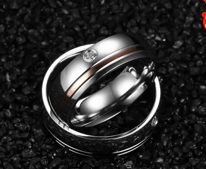 Срок годности Anillos Ювелирные Изделия Кольца Для Пары 316l Stainless Steel Ring With Cz Женщина Мужчина Подарок купить на AliExpress