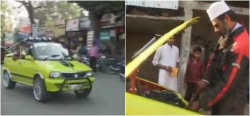 A Mechanic In Madhya Pradesh Just Invented A Car That Runs On Fuel As Cheap As Rs 10 Per Litre!