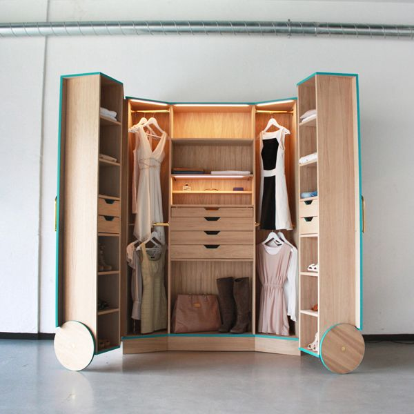 """Designed during his training at the Design Academy Eindhoven, product designer Hosun Ching's Walk-In Closet is now available for your custom order. As described by the designer, """"The depth of a standard wardrobe is 60 cm [just under 24 inches]. That is simply not practical... Photo courtesy of Hosun Ching."""